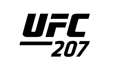 UFC 207 logo - Ultimate Fighting Championship - December 30th, 2016.  Black and white.