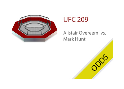 The UFC 209 matchup between Overeem and Hunt - Odds.