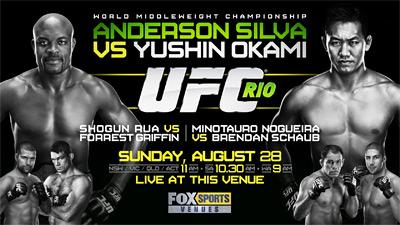 UFC 134 Rio - Poster
