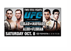 UFC 136 Poster - Small version