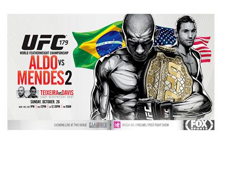 UFC 179 - Event Poster - Aldo vs. Mendes 2
