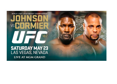 UFC 187 Poster - Anthony Johnson vs. Daniel Cormier - May 23, 2015