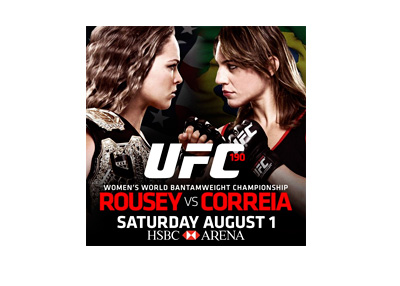 UFC 190 Poster - Ronda Rousey vs. Bethe Correia - Event Poster