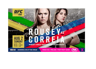 UFC 190 Event Poster - Ronda Rousey vs. Bethe Correia - New poster / matchup