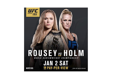 UFC 195 Poster - January 2, 2016 - Ronda Rousey vs. Holly Holm - Event poster