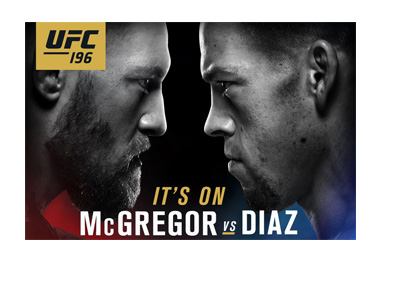 UFC 196 poster - Top half - Conor McGregor vs. Nate Diaz