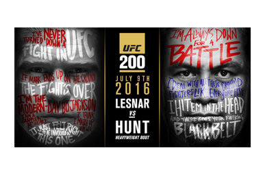 The UFC 200 Lesnar vs. Hunt - Event poster - July 9th, 2016