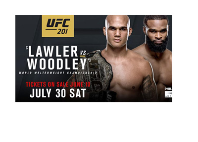 Lawler vs. Woodley - Ultimate Fighting Championship (UFC) 201 - Event poster