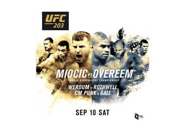 UFC 203 poster - Stipe Miocic vs. Alistar Overeem