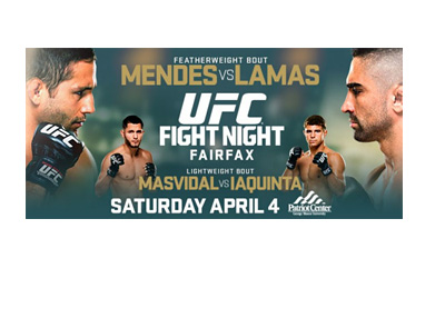 UFC Fight Night 63 - Event Poster - Mendes vs. Lamas - April 2015