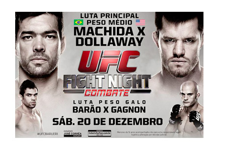 UFC Fight Night - December 20th, 2014 - Machida vs. Dollaway - Event Poster