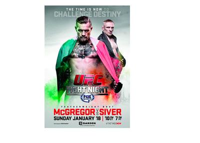 UFC Fight Night Poster - Conor McGregor vs. Dennis Silver