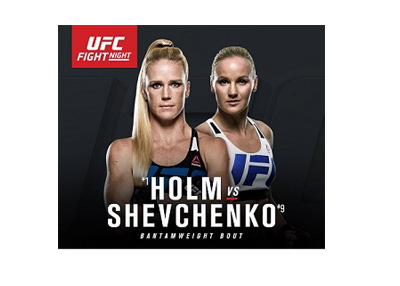 UFC on Fox - Holly Holm vs. Valentina Shevchenko - Event poster - July 23rd, 2016