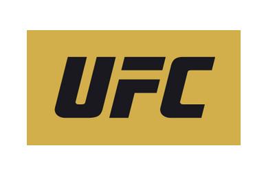 UFC logo - Yellow background