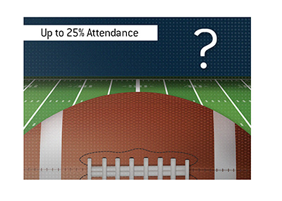 The start of the NFL season will see some stadiums allow up to 25 percent spectator capacity.