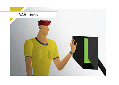 The Video Assistant Technology - VAR - Lives - Illustration.