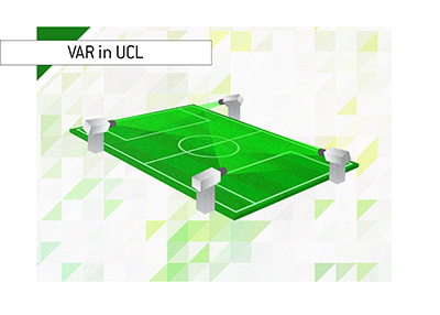 Video Assistant Referee - VAR - Illustration.