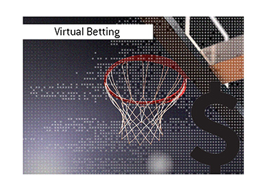 Virtual Basketball Betting - Illustration.