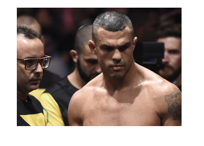 Vitor Belfort checking in for one of his last fights in the Octagon.