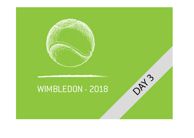 Wimbledon tennis tournament - Year 2018 - Day 3 action preview.