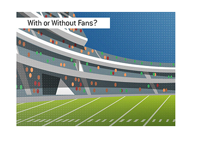 Will the upcoming American Football season be played with or without fans in attendance?