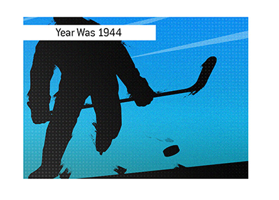 The biggest blowout in hockey occured in year 1944.