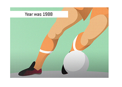 Year was 1988 when Holland shocked the Soviet Union in the final to win the Euro Cup.