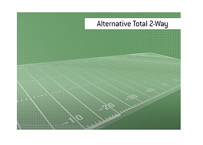 The meaning of the betting term Alternative Total 2-way is explained.  Sports King Dictionary.