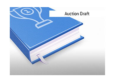 The meaning of the fantasy sports term Auction Draft is explained by the King.  What is it?