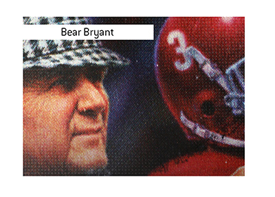 Bear Bryant quote - Offense sells tickets, defense wins championships.