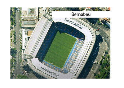 Dictionary entry for Bernabeu.  The Stadium in Madrid.  The King goes over the important information.