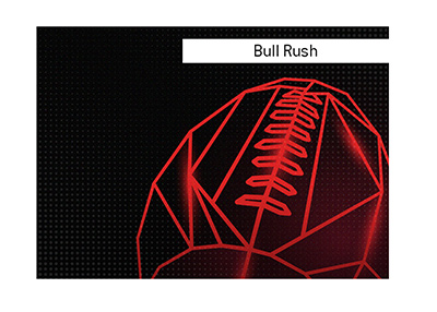 The meaning of Bull Rush when it comes to the sport of American football is explained.