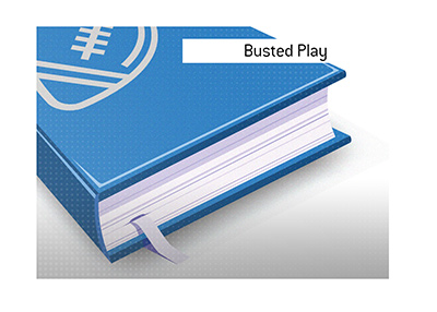 The definition of the football term Busted Play.  What is it and what is an example of it?  Kings Sports Dictionary.