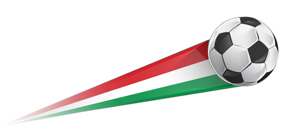 The Italian football - Illustration - Ball and flag.  What is the meaning of Calcio?