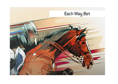 THe meaning of the term Each Way Bet is explained in the context of betting on horses.