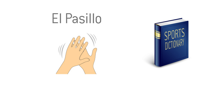 The meaning of the sportsmanship term El Pasillo.  Guard of Honour.  Clapping illustration.