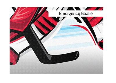 This article covers the meaning of the trending hockey term Emergency Goalie.  What is it?