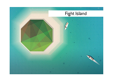 The Fight Island concept illustration.  An idea or the real thing?
