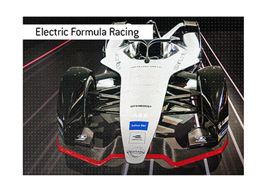 The new generation Formula E racing car made by Nissan.