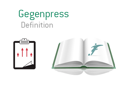 Dictionary definition of Gegenpress - Football strategy book