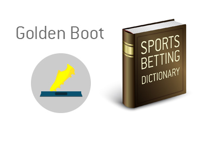 The illustration and dictionary entry for Golden Boot (shoe) soccer / football trophy.