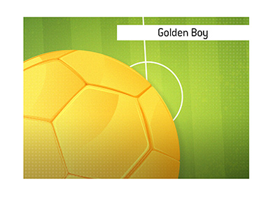 The Golden Boy award origins and history are explained.  Illustration.  Who are the famous winners?