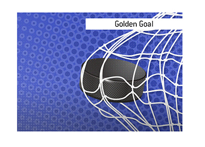What is the Golden Goal in sports?  When does it happen?  Illustration / drawing / definition.