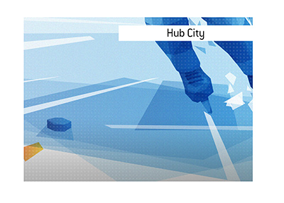 The King explains the meaning of the newly coined hockey term Hub City.