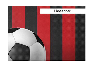 One of the most recognizable football kits is the  Rossoneri of AC Milan - Illustration.