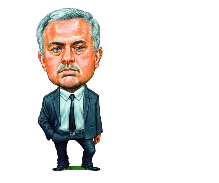 The Portuguese manager Jose Mourinho - Emotionless.