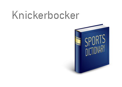 The meaning of the sports term Knickerbocker is explained.  It relates to the city of New York and their basketball team.