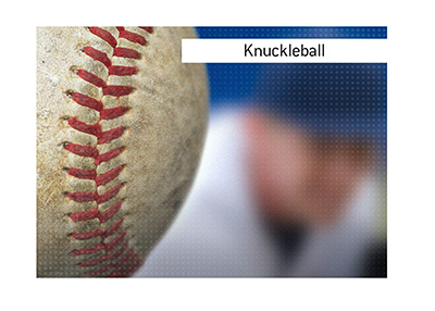 The explanation of what the knuckleball is in the sports of baseball and also football.