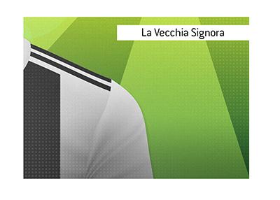 Juventus player - Illustration - La Veccia Signora meaning and origin explained.