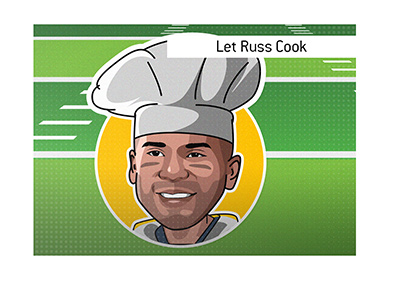 The meaning of the catchphrase Let Russ Cook is explained and illustrated.
